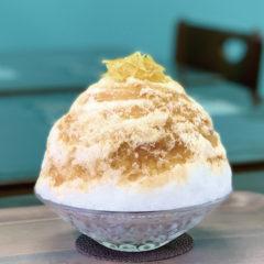 アールグレイのかき氷(ミルク・レモン・シナモン)